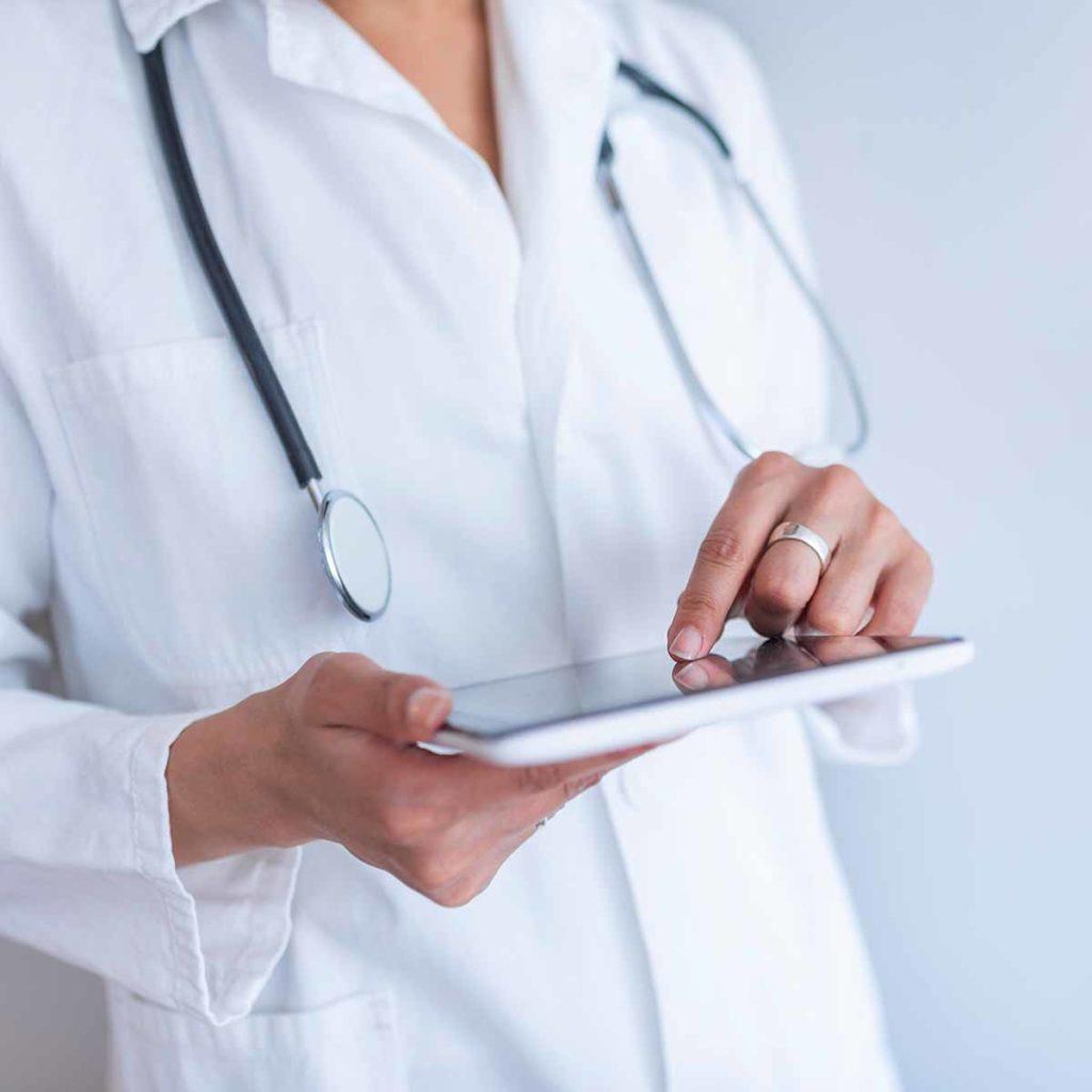 Nurse with iPad